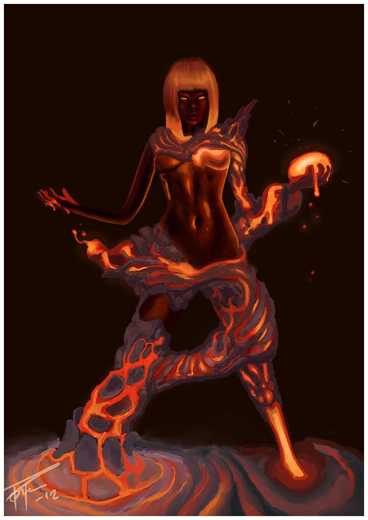 Lava Elemental Moraige by Nemca on DeviantArtFemale Fire Elemental