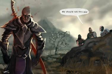 Skyrim bandits by Nemca