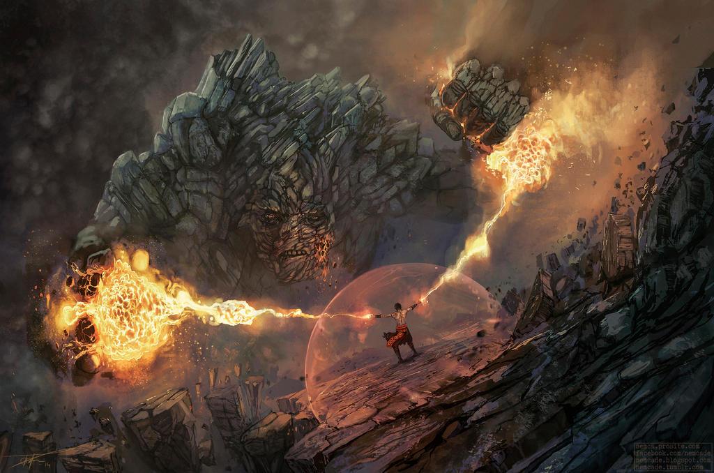 Fire vs. Earth by Nemca