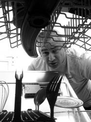 dishwasher looking at me
