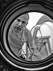 washing machine looking at me by urban-thinking