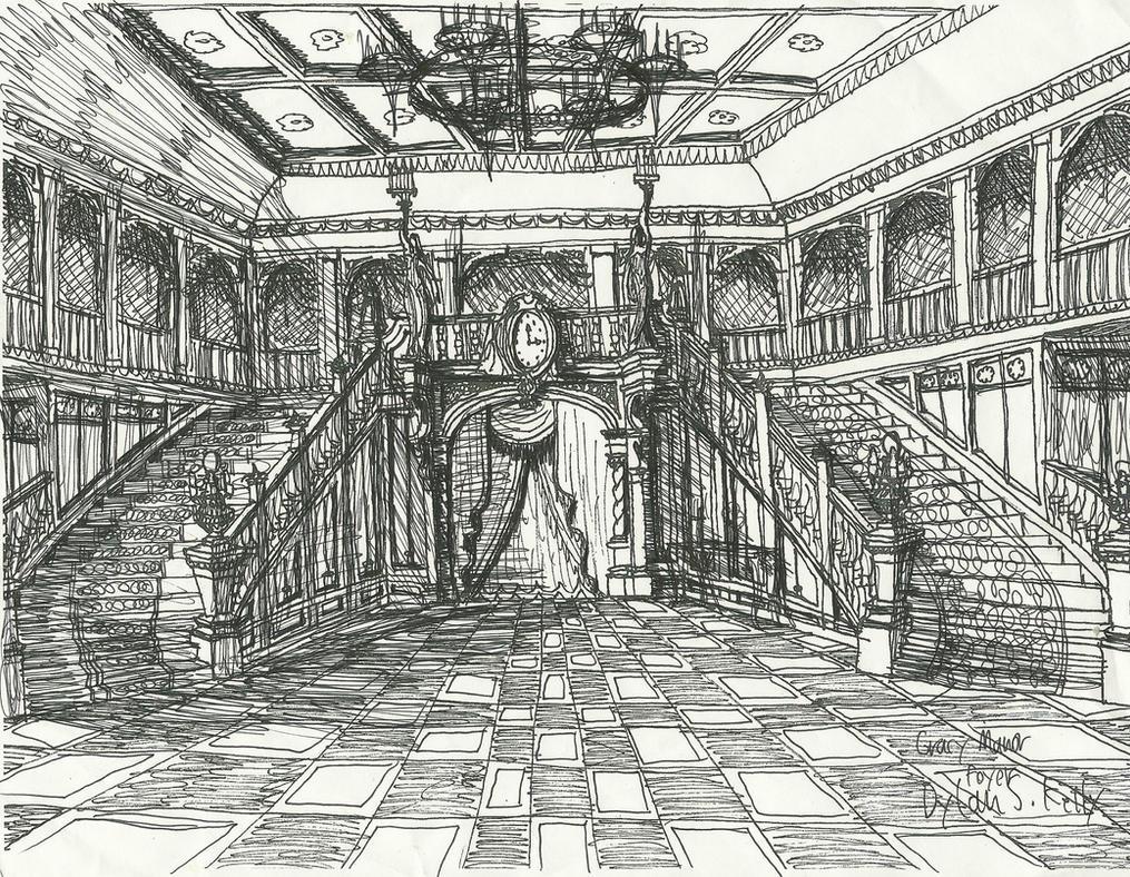 Haunted Mansion Foyer Wallpaper : Haunted mansion foyer by rochestergremlin on deviantart