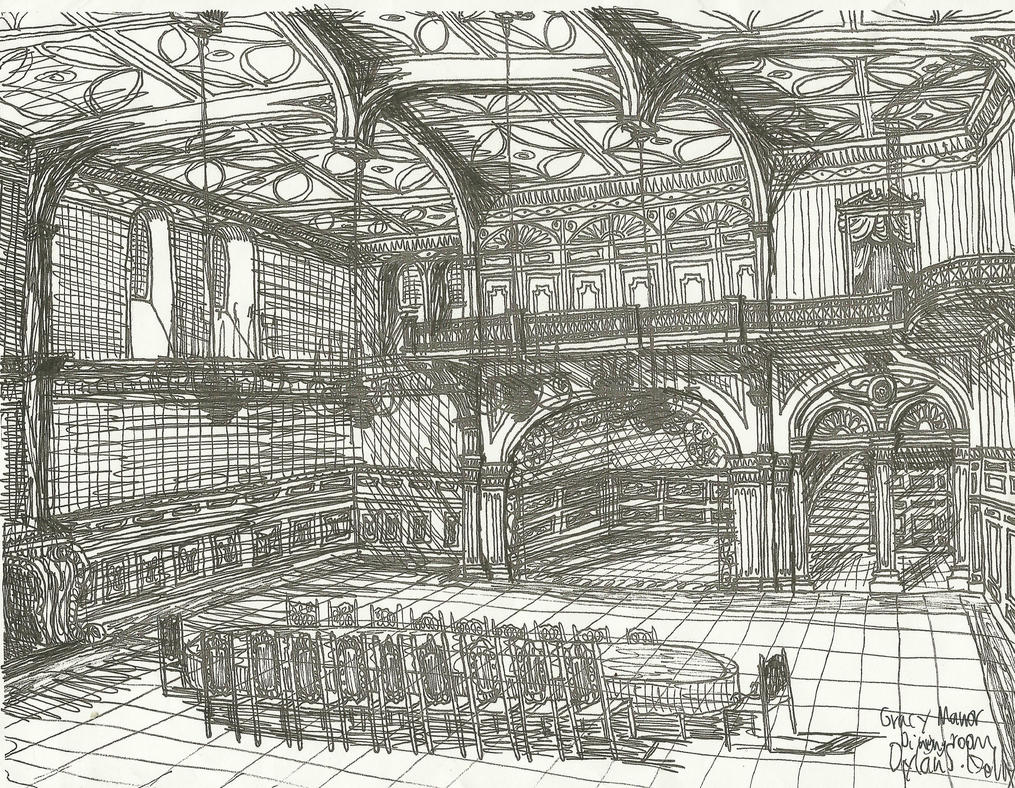 Haunted mansion dining room by rochestergremlin on deviantart for Haunted dining room ideas