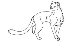 Cheetah Lineart