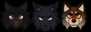 Three Wolfies - [COMM]]