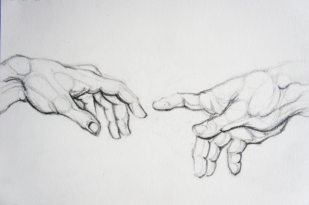 Creation Of Adam Hand Study by aydanhasanova
