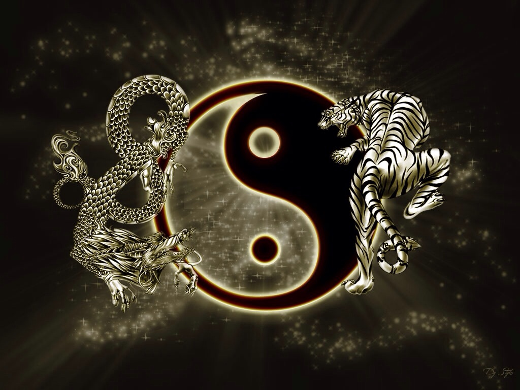 Yin yang. Dragon and tiger by lanceiscute on DeviantArt