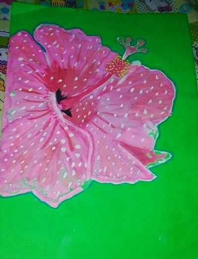 simple hibiscus flower by CutieeBruteeee