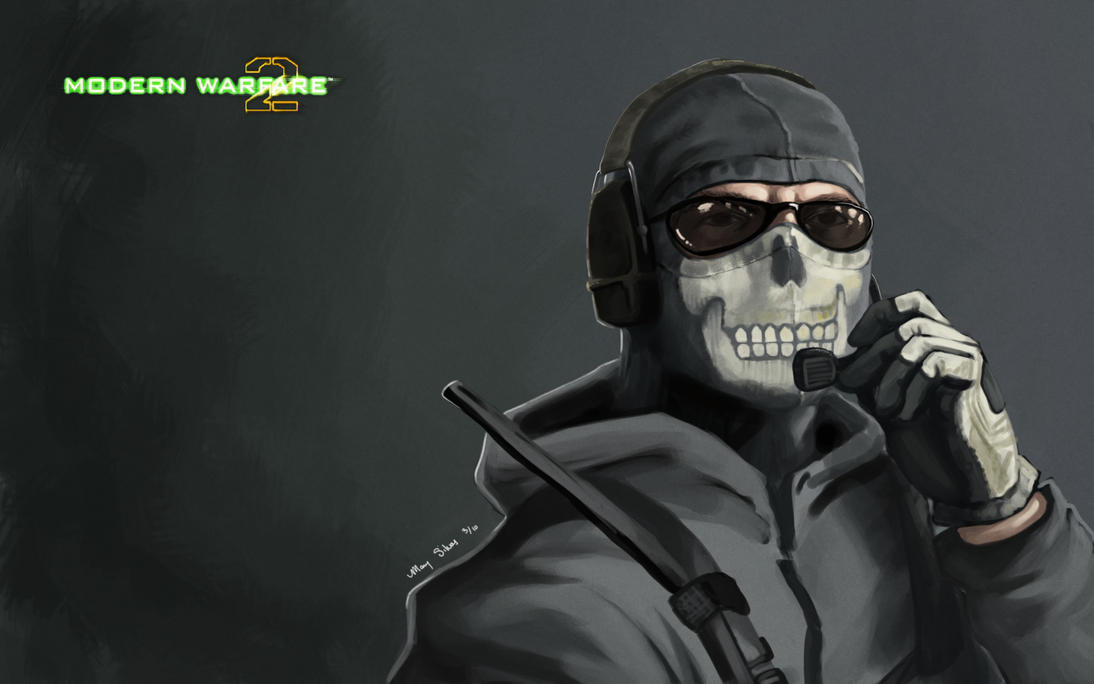 MW2 Wallpaper Ghost By CreativeImages