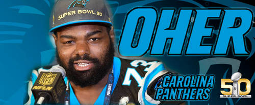 Michael Oher Super Bowl 50 Facebook Cover by Cocoman68