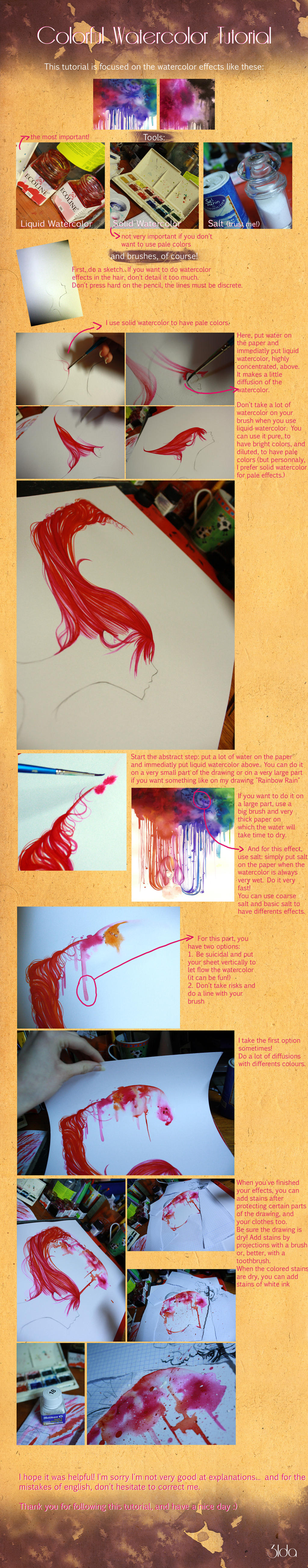 Watercolor effects tutorial by 3lda on deviantart for Watercolor tutorial