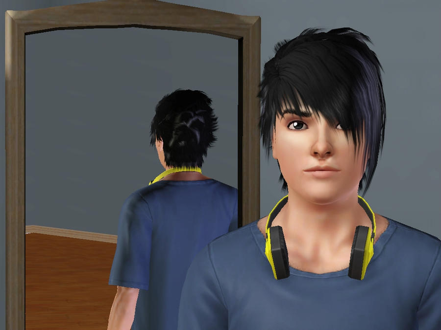 Sasuke Uchiha- Sims shot one by Fiarrella
