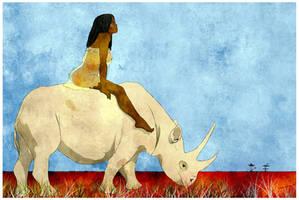 white rhinocerous. by Moryah
