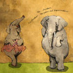 Elephant with an amnesia. by Moryah