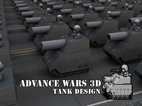 Advance Wars 3D - Tanks by Torador