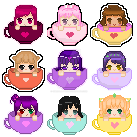 Teacup Icon Batch 1 by SweetLilyTea