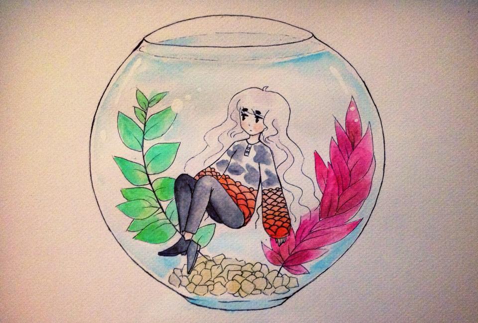 Koi fish by joannawentbananas