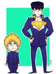 Koichi and Josuke