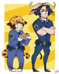 Officer Clawhauser and Chief Bogo