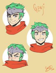 Young Genji doodles