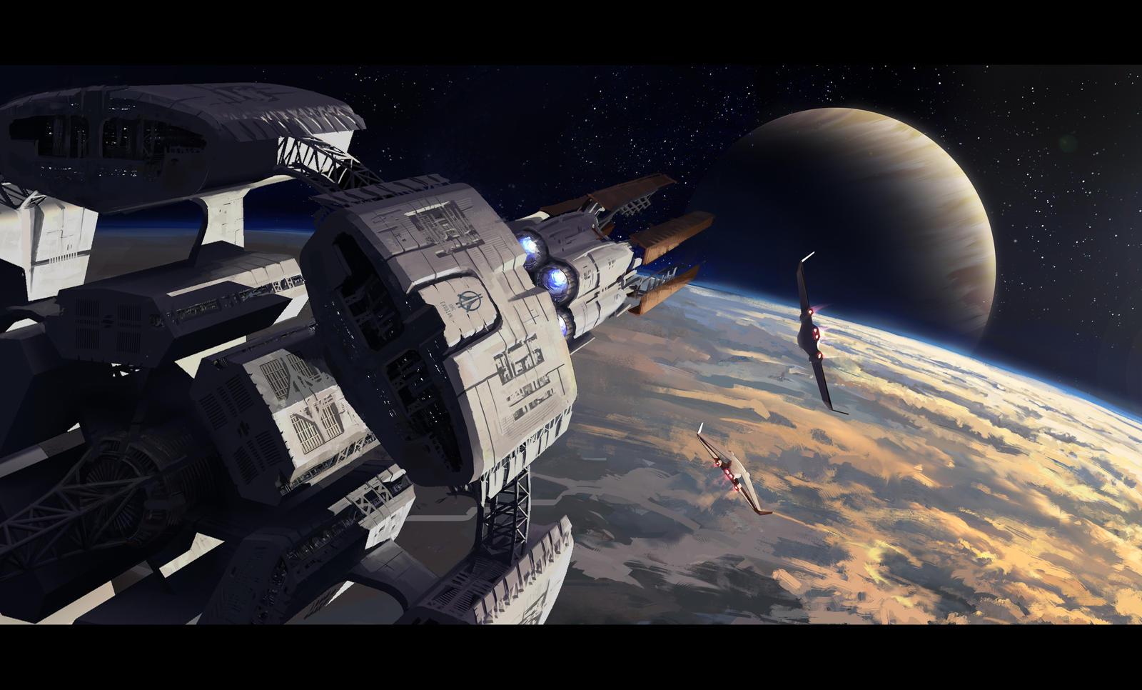 Trapaski, WIPs divers - Page 5 Efkaria_01___reaching_exoplanet_orbit_by_trapaski-dcczs1e
