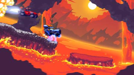 IRW - Lava World gameplay mockup