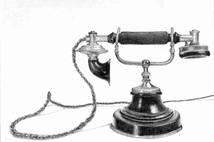 Better Version Of Antique Telephone By Chana17