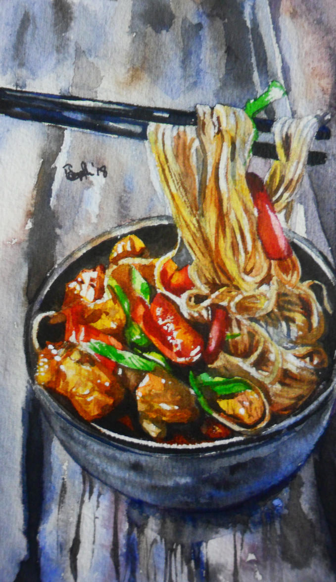Kung Pao Noodles by SufiaEasel