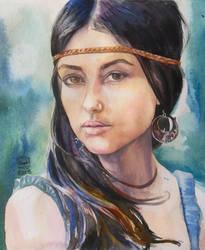 Boho girl 2 by SufiaEasel