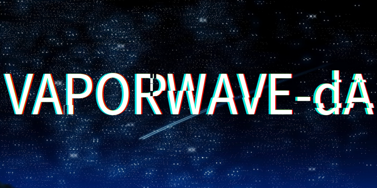 Vaporwave-dA logo (full caps + bigger) by CherryChangaChan