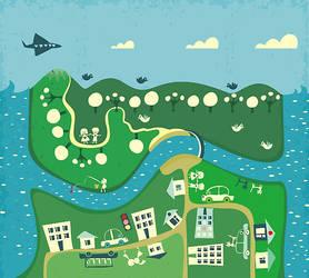 cartoon map