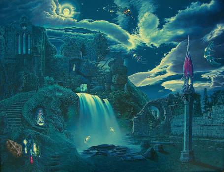 The Ruins at Night