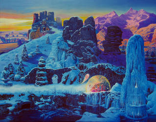 The Ruins in Winter by Tolkyes