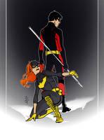 Batgirl Robin doodle by OlgaUlanova