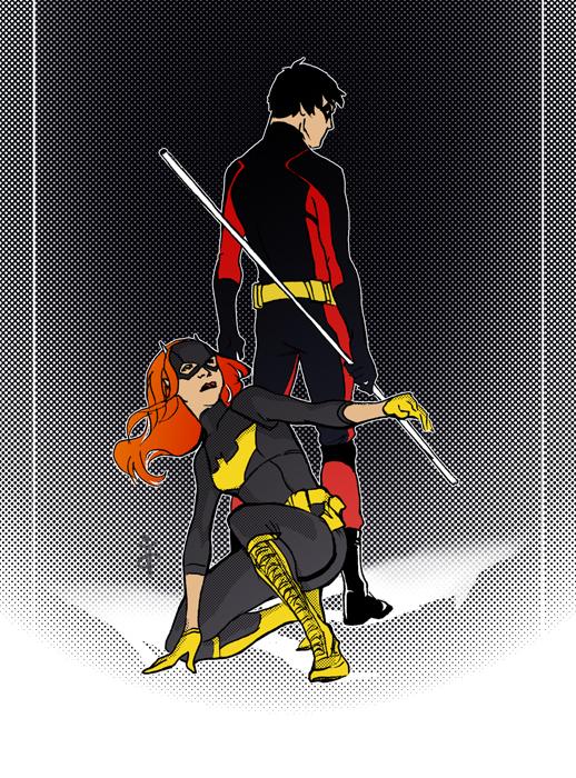 Batgirl and robin love