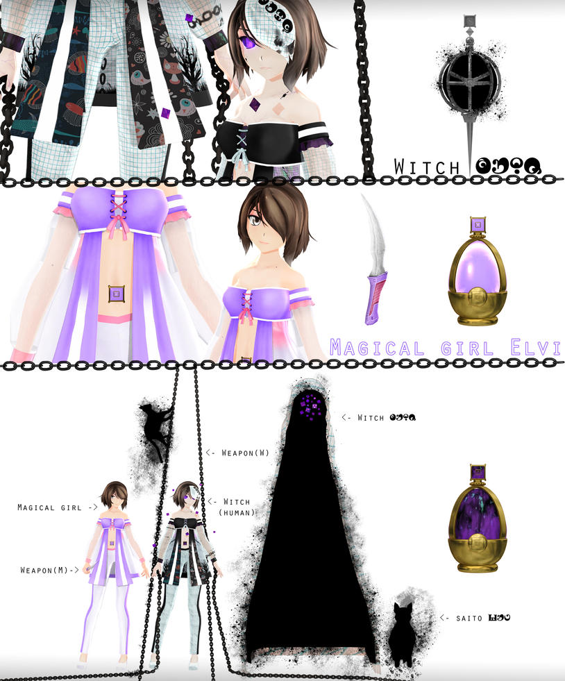 ~Model preview~Elvi Magical girl-witch ~ by ElviraMoa