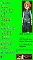 Molly- Sonic X sprite sheet