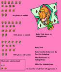 Baby Tikal Sprite Sheet