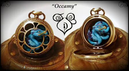 Occamy fan art in a clock by hodryronja