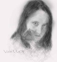 self-portrait by violette13