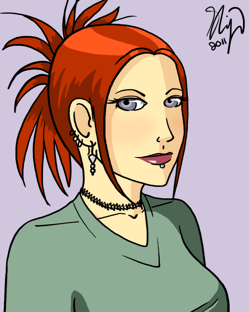 Girl with Red Hair by kkskipper