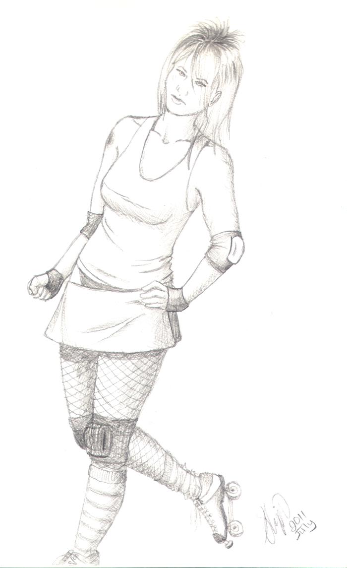 Derby Girl sketch by kkskipper