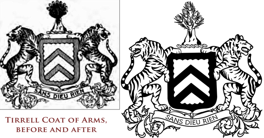 Tirrell Coat of Arms by kkskipper
