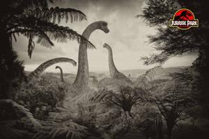 Jurassic Park - Brachiosaurus by tomzj1