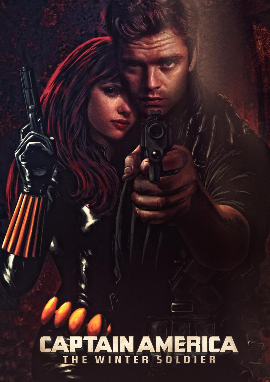 Black widow winter soldier movie poster