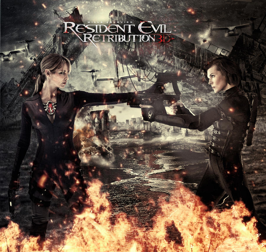 Resident Evil Retribution Jill Vs Alice By Tomzj1 On Deviantart