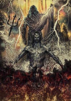 The Olympian Big Three - Zeus, Poseidon, Hades by tomzj1