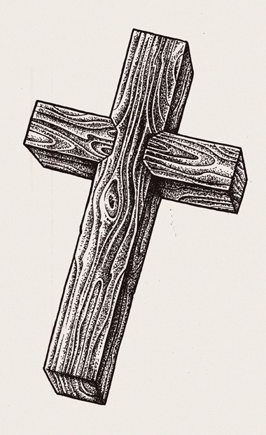 Cross Tattoo Line Drawing : Wooden cross by inkcorf on deviantart