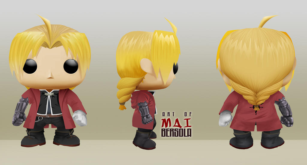 Funkopop Edward Elric Auto Mail By Lawliet21 27 On Deviantart