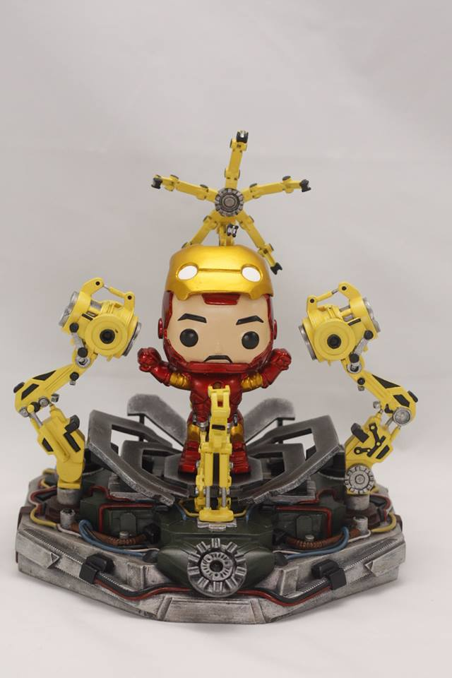 Iron Man (Funko Pop Custom) by lawliet21-27